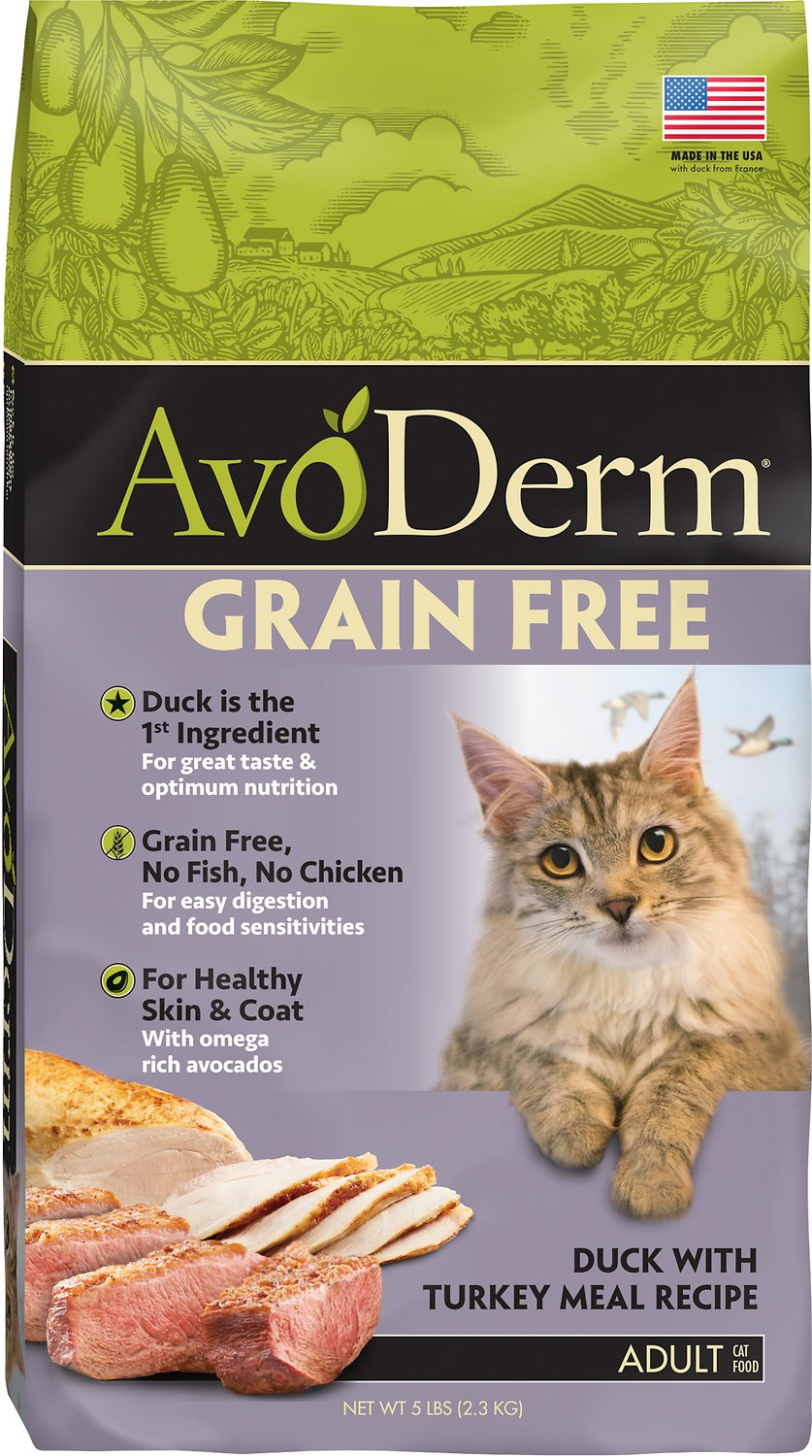 AvoDerm Grain-Free Duck with Turkey Meal Dry Cat Food, 2.5-lb