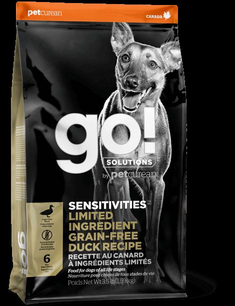 Petcurean Dog Go! Solutions Sensitivities Limited Ingredient Duck Grain-Free Dry Dog Food, 12-lb