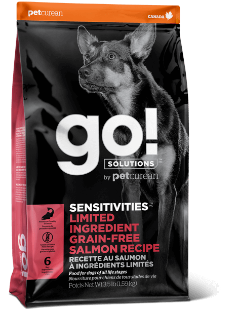 Go! Solutions Sensitivities Limited Ingredient Salmon Grain-Free Dry Dog Food, 3.5-lb