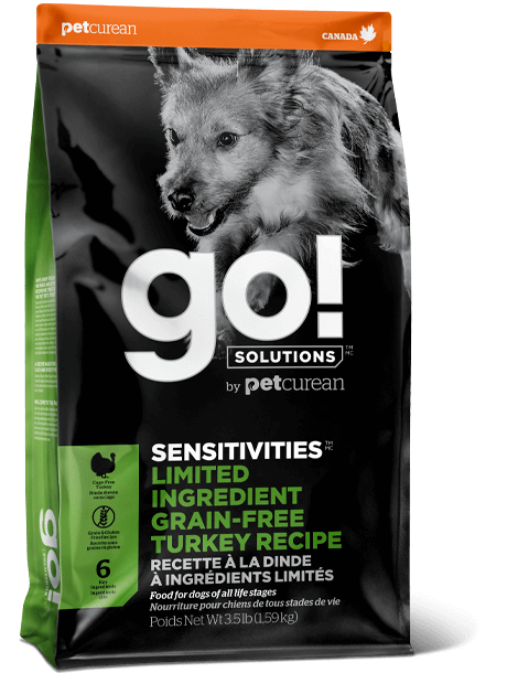 Petcurean Dog Go! Solutions Sensitivities Limited Ingredient Turkey Grain-Free Dry Dog Food, 3.5-lb