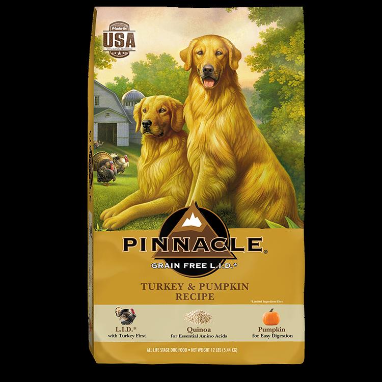 Pinnacle Turkey & Pumpkin Recipe Limited Ingredient Grain-Free Dry Dog Food, 4-lb