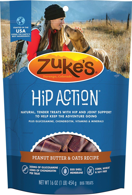 Zuke's Hip Action Peanut Butter & Oats Recipe Dog Treats Image