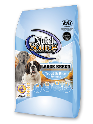 Nutrisource Trout & Rice Formula Large Breed Dry Dog Food, 30-lb