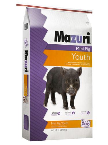 Mazuri Mini Pig Youth Pig Food, 25-lb