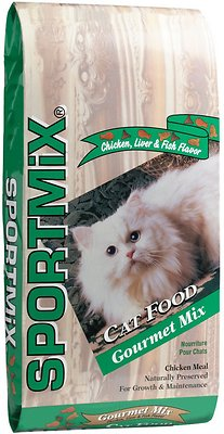 SPORTMiX Gourmet Mix with Chicken, Liver and Fish Flavor Adult Dry Cat Food, 31-lb bag
