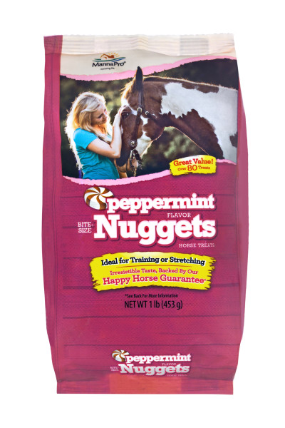 Manna Pro Peppermint Flavored Nuggets Horse Treats, 1-lb