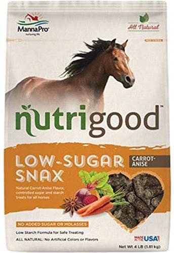 Manna Pro Nutrigood Low-Sugar Snax Carrot-Anise Flavored Horse Treats, 4-lb