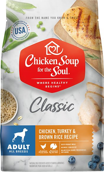 Chicken Soup for the Soul Chicken, Turkey, & Brown Rice Recipe Dry Dog Food, 4.5-lb