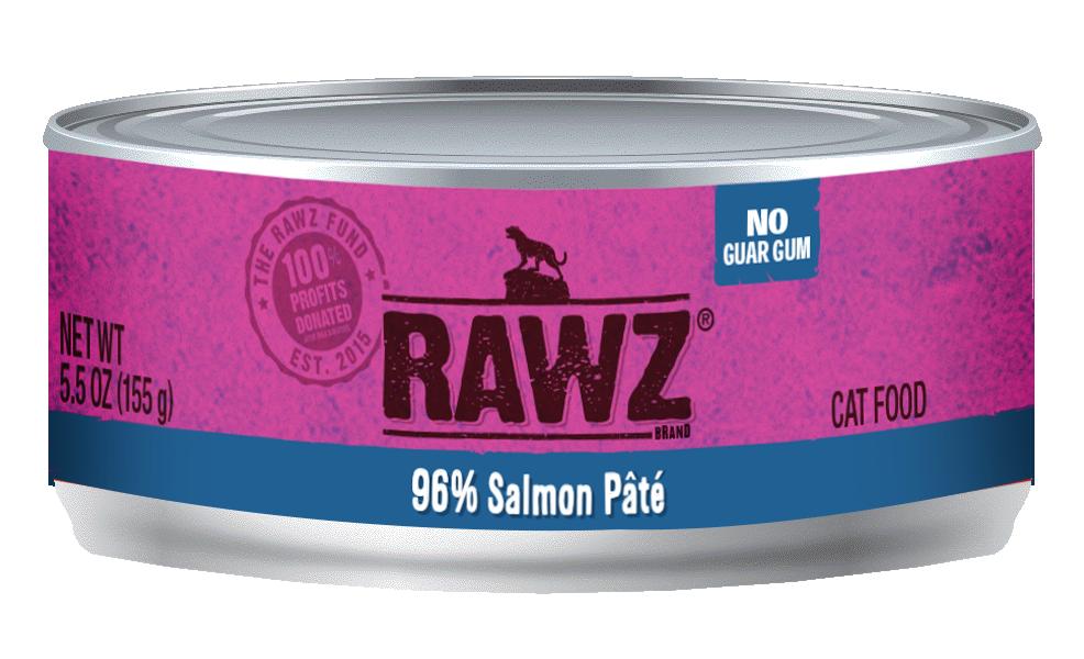 RAWZ Cat 96% Salmon Pate, 3-oz can