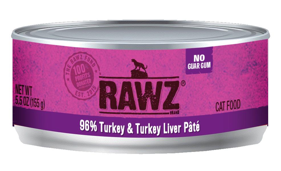RAWZ Cat 96% Turkey & Turkey Liver, 3-oz can