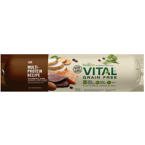 Freshpet Vital Grain-Free Multi-Protein Recipe Wet Dog Food, 2-lb roll