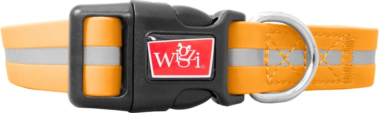 Wigzi Waterproof Dog Collar, Orange, Large