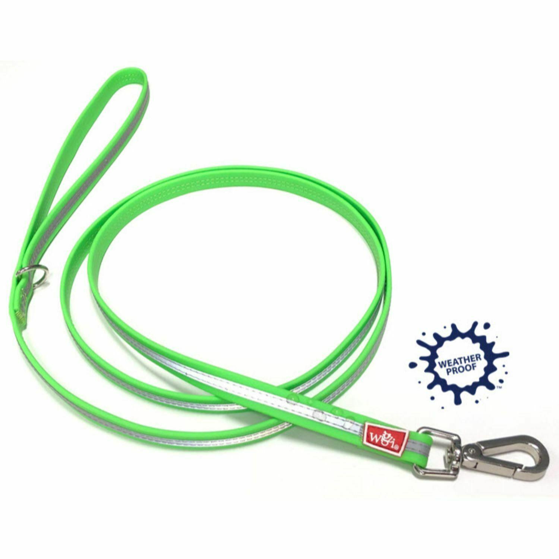 Wigzi Reflective Waterproof Dog Leash, Neon Green