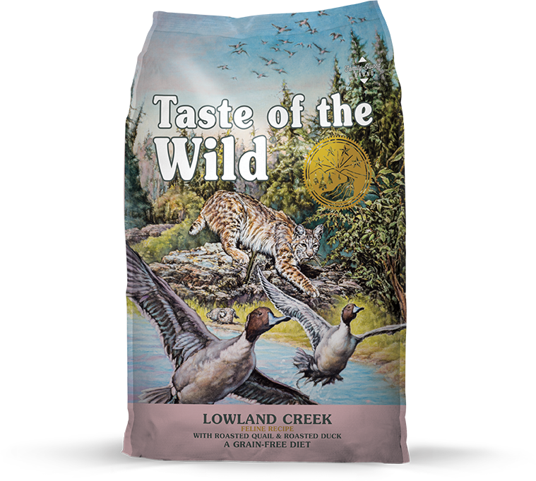 Taste Of The Wild Lowland Creek Grain-Free Dry Cat Food, 5-lb