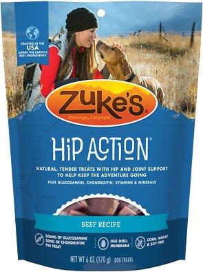 Zuke's Hip Action Beef Recipe Dog Treats, 6-oz bag
