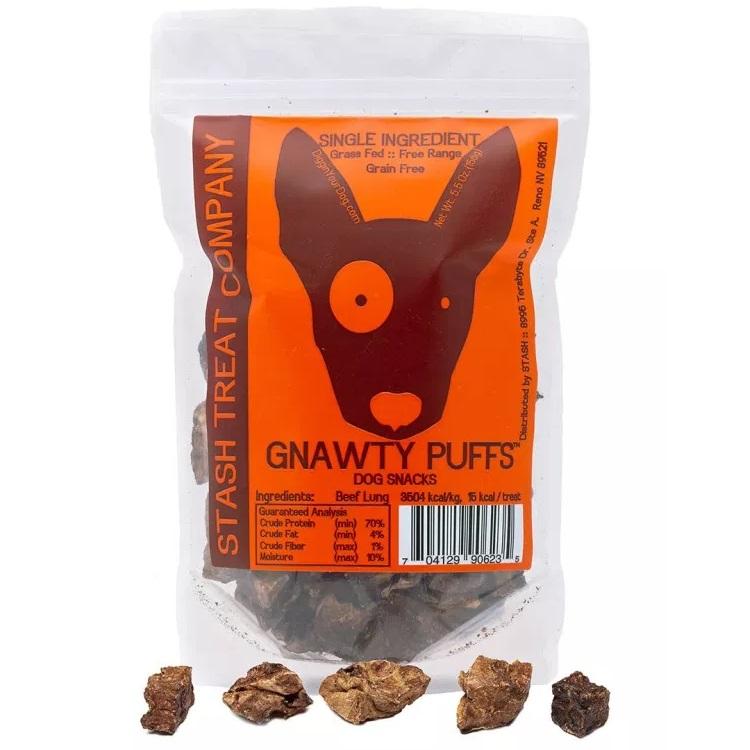 Stash Gnawty Puffs Dog Treats, 5.5-oz