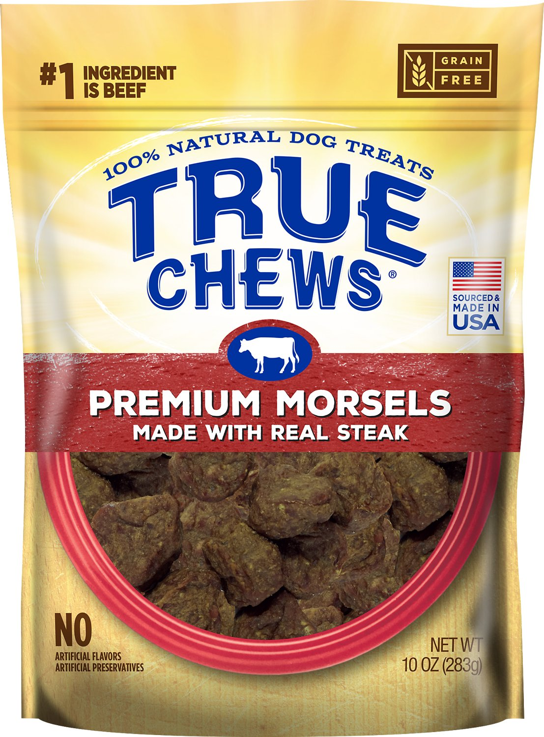 True Chews Premium Morsels with Real Steak Dog Treats, 10-oz (Size: 10-oz) Image