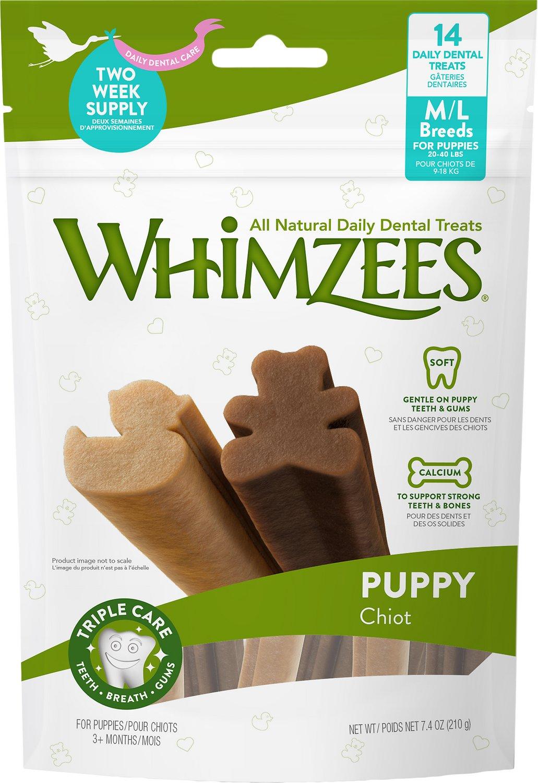 WHIMZEES Puppy Dental Dog Treats, Medium/Large, 14 count