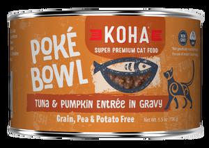 Koha Cat Poke Bowl Tuna & Pumpkin Entrée in Gravy Wet Cat Food, 5.5-oz, case of 24