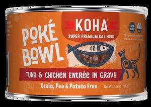 Koha Cat Poke Bowl Tuna & Chicken Entrée in Gravy Wet Cat Food, 5.5-oz, case of 24