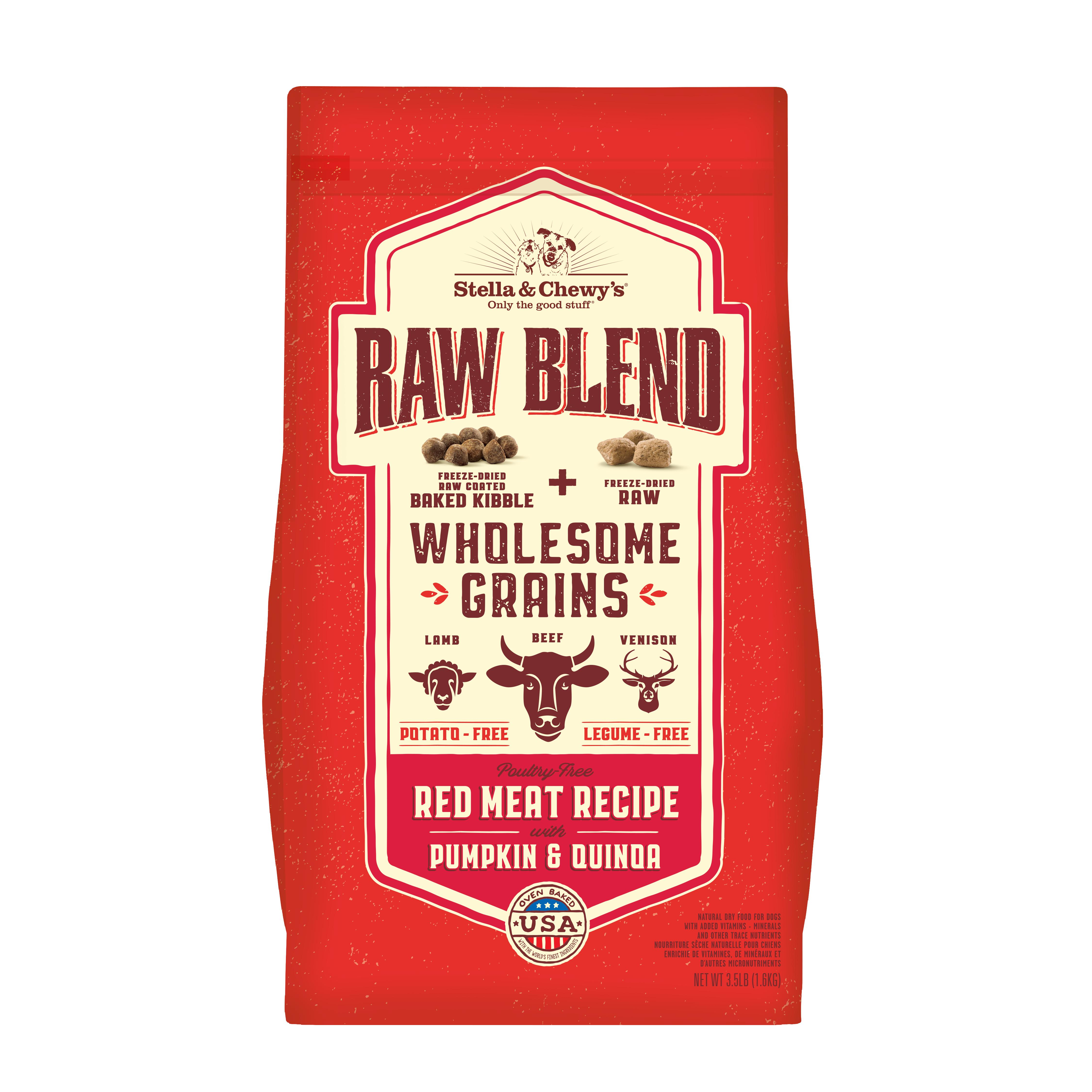 Stella & Chewy'sRaw Blend Wholesome Grains Red Meat Recipe with Pumpkin & Quinoa Dry Dog Food Image