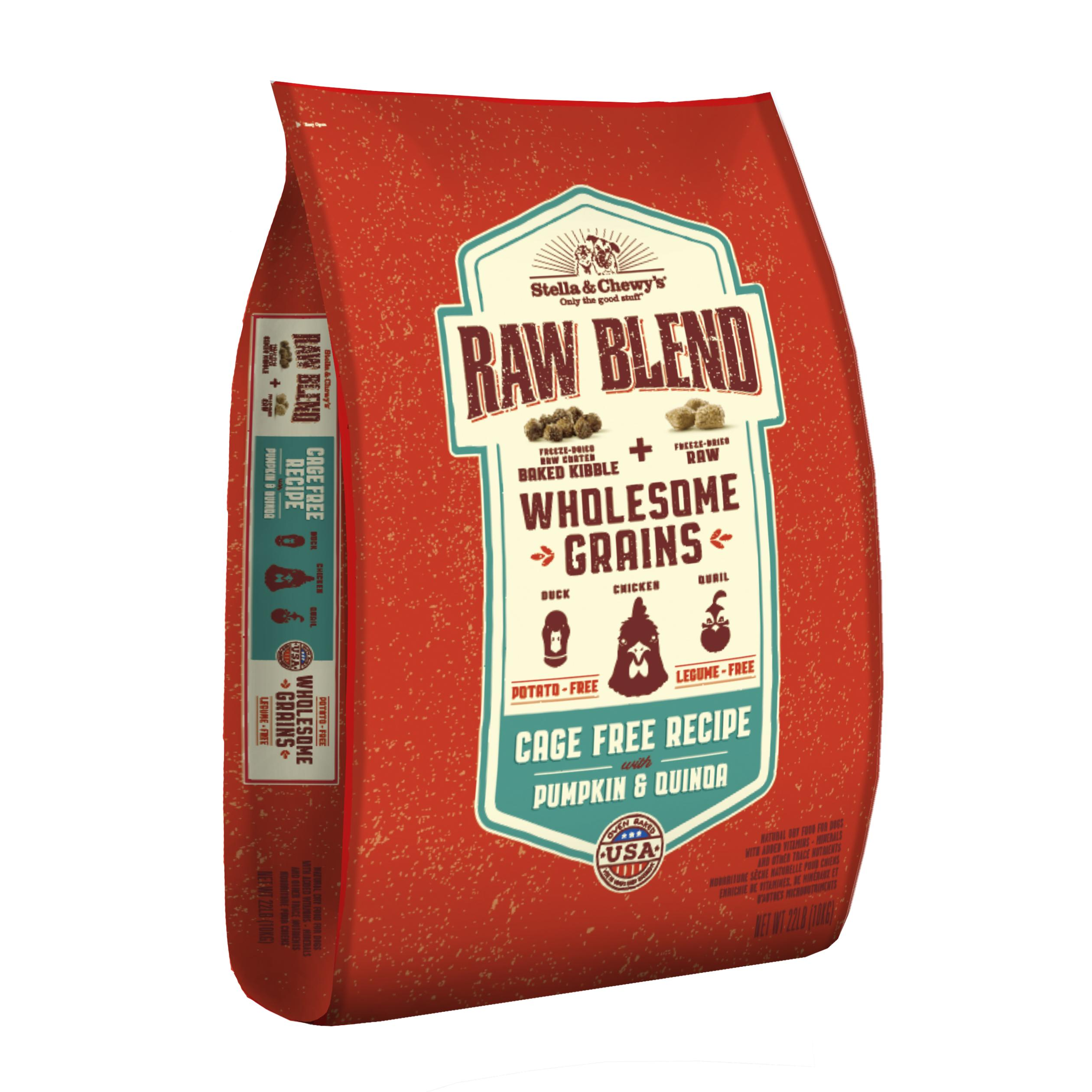 Stella & Chewy'sRaw Blend Wholesome Grains Cage-Free Recipe with Pumpkin & Quinoa Dry Dog Food, 22-lb