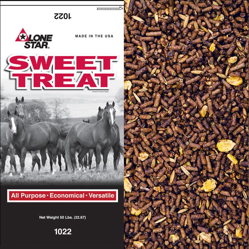Lone Star Sweet Treat Horse Feed 50 Lb Mid County Farm And Feed Supply