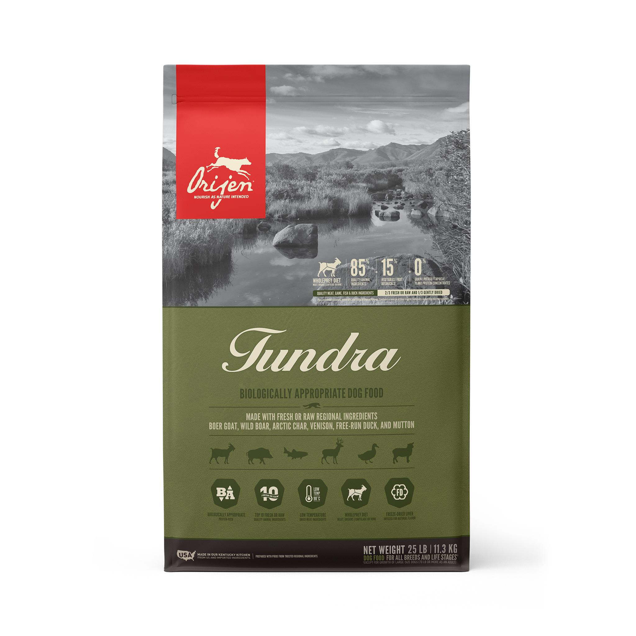 ORIJEN Tundra Grain-Free Dry Dog Food, 25-lb