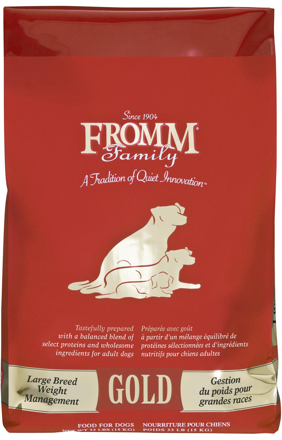 Fromm Gold Weight Management Large Breed Dry Dog Food, 15-lb