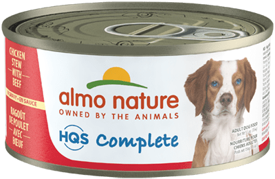 Almo Nature HQS Complete Chicken Stew with Beef Grain-Free Wet Dog Food, 5.5-oz