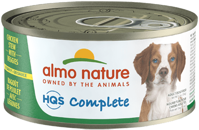 Almo Nature HQS Complete Chicken Stew with Veggies Wet Dog Food, 5.5-oz, case of 24