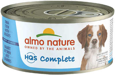 Almo Nature HQS Complete Tuna Stew Veggies Wet Dog Food, 5.5-oz, case of 24