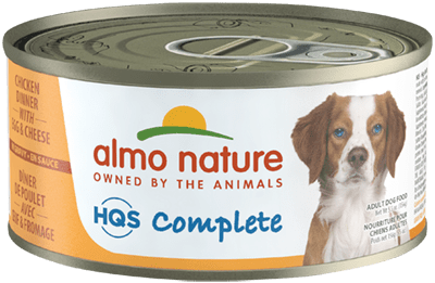 Almo Nature HQS Complete Chicken Dinner with Cheese & Egg Grain-Free Wet Dog Food, 5.5-oz, case of 24