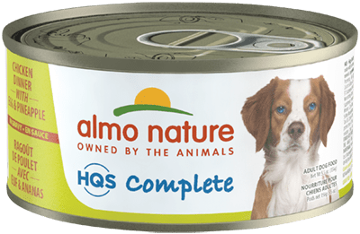 Almo Nature HQS Complete Chicken Dinner with Pineapple & Egg Wet Dog Food, 5.5-oz, case of 24