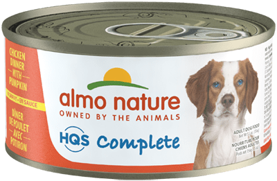 Almo Nature HQS Complete Chicken Dinner with Pumpkin Canned Dog Food, 5.5-oz
