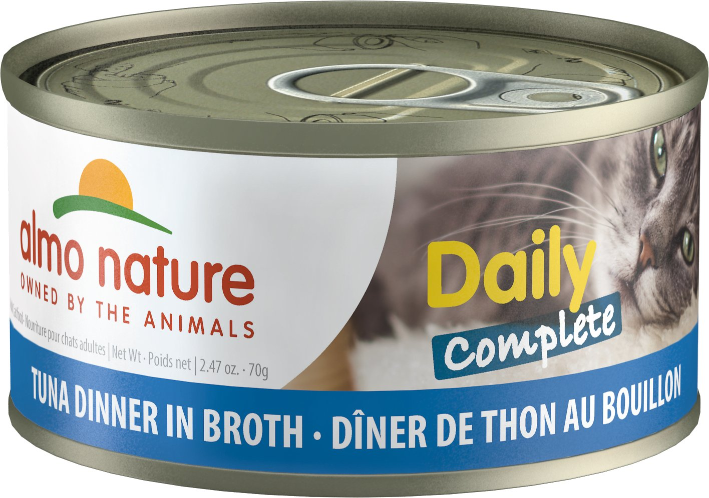Almo Nature Daily Complete Tuna Dinner In Broth Wet Cat Food, 2.47-oz, case of 24