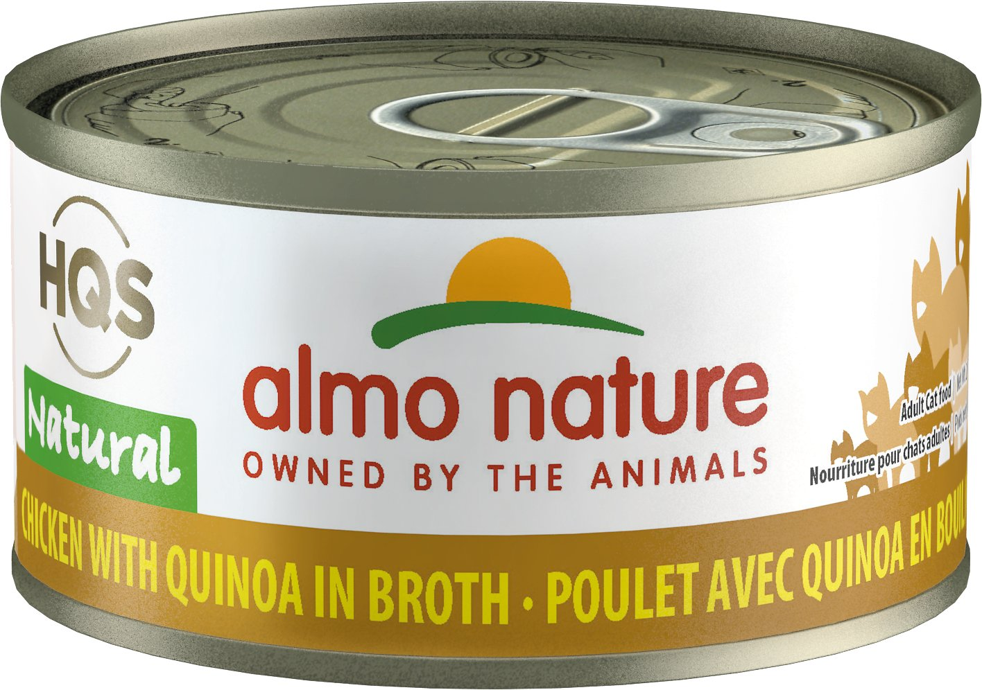 Almo Nature HQS Natural Chicken With Quinoa Wet Cat Food, 2.47-oz