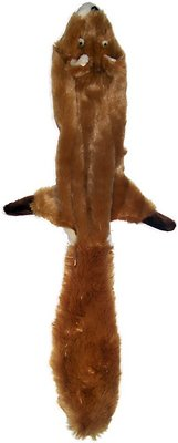 Ethical Pet Skinneeez Forest Series Squirrel Stuffingless Dog Toy, 14-in