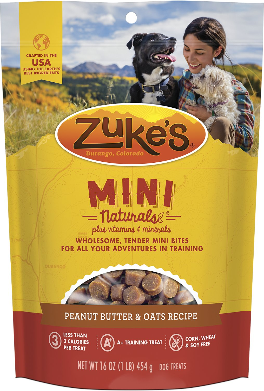 Zuke's Mini Naturals Peanut Butter & Oats Recipe Dog Treats Image
