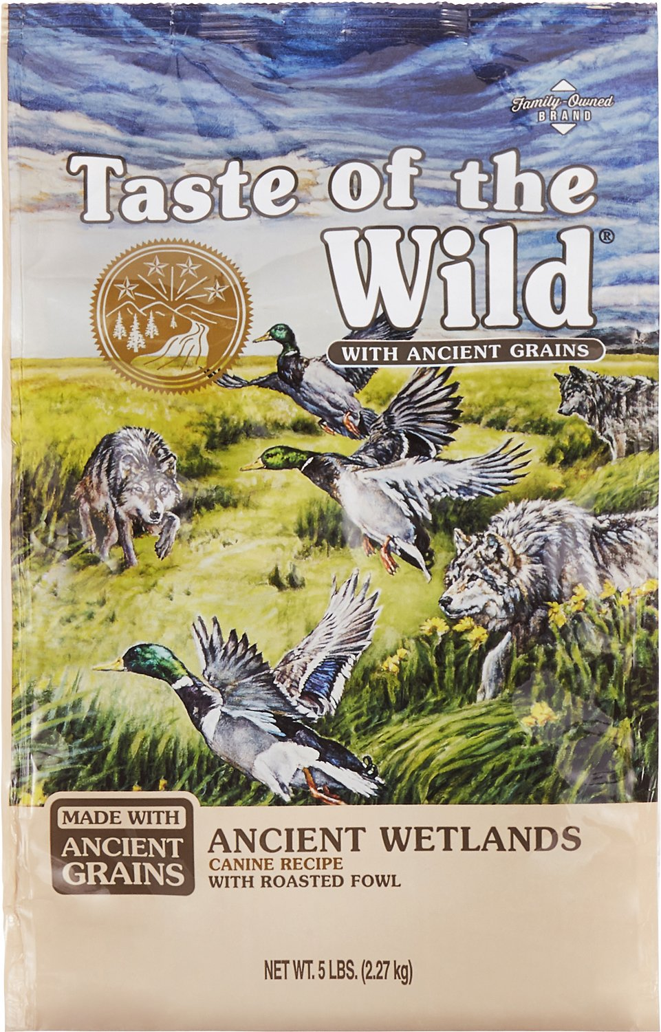 Taste of the Wild Ancient Wetlands with Ancient Grains Dry Dog Food, 5-lb