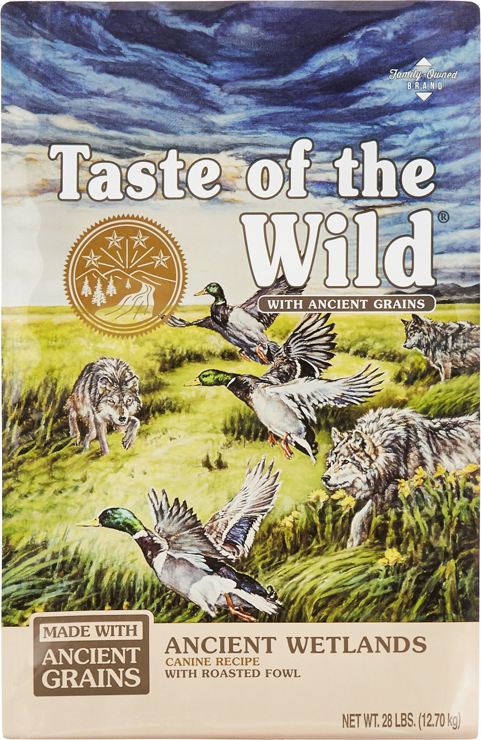 Taste of the Wild Ancient Wetlands with Ancient Grains Dry Dog Food, 28-lb