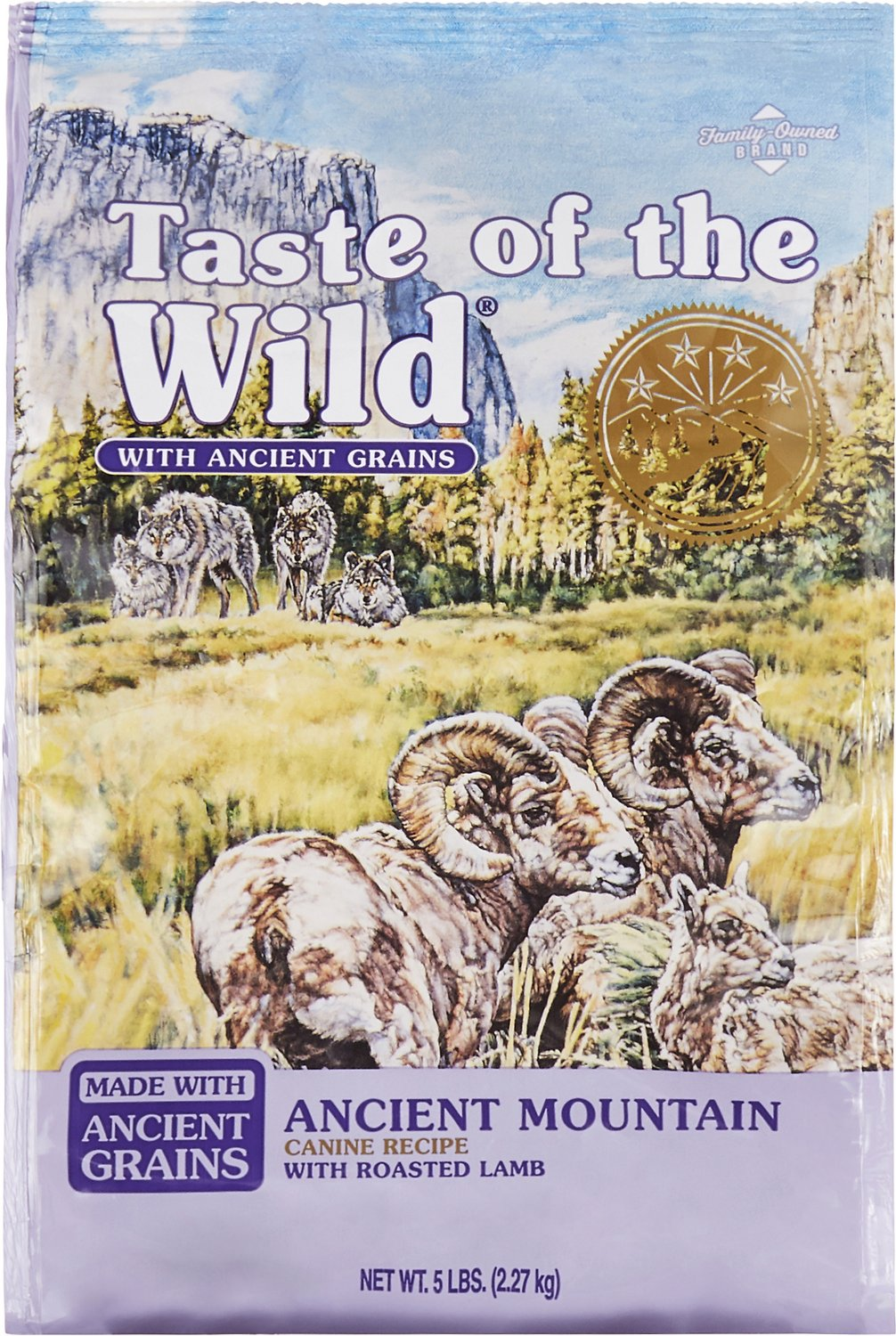 Taste of the Wild Ancient Mountain with Ancient Grains Dry Dog Food, 5-lb