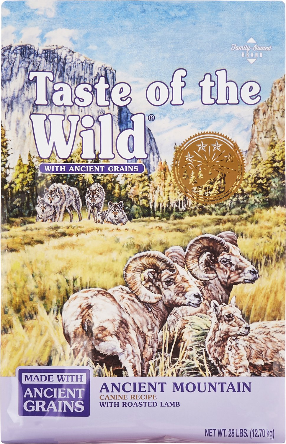Taste of the Wild Ancient Mountain with Ancient Grains Dry Dog Food, 28-lb