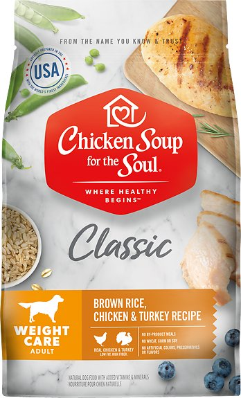 Chicken Soup for the Soul Adult Weight Care Brown Rice, Chicken & Turkey Recipe Dry Dog Food, 13.5-lb