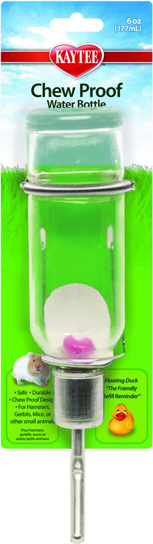 Kaytee Chew-Proof Small Animal Water Bottle, 6-oz bottle