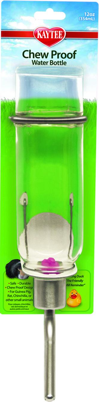 Kaytee Chew-Proof Small Animal Water Bottle, 12-oz bottle