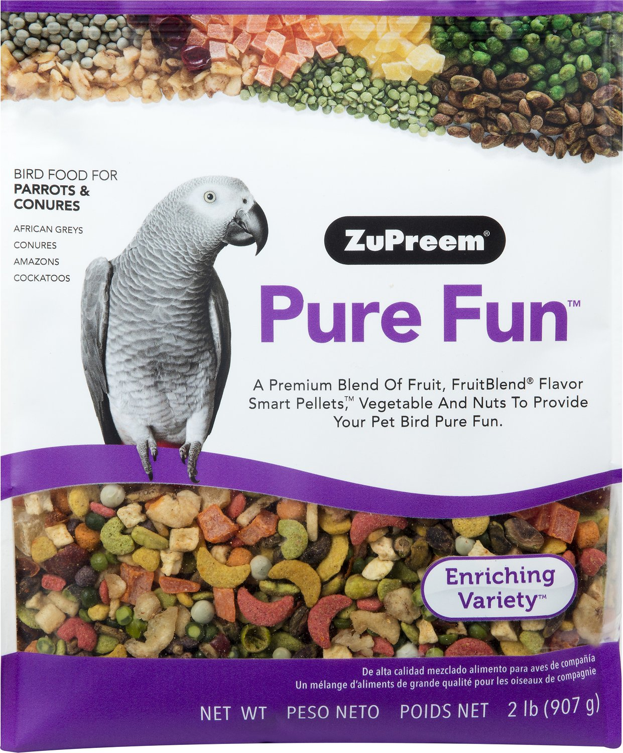 ZuPreem Pure Fun Enriching Variety Parrots & Conures Bird Food Image