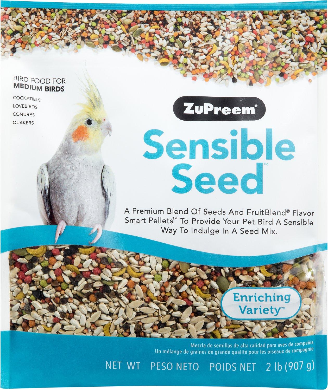 ZuPreem Sensible Seed Enriching Variety Medium Bird Food, 2-lb