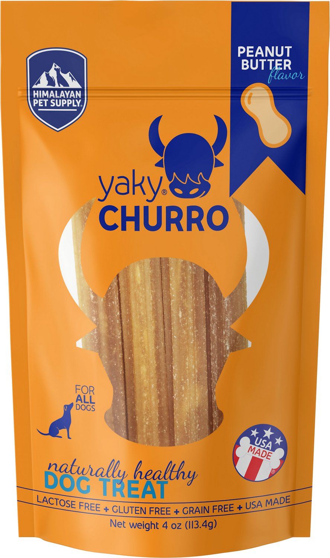 Himalayan Dog Chew yakyCHURRO Peanut Butter Flavor Dog Treats, 4-count