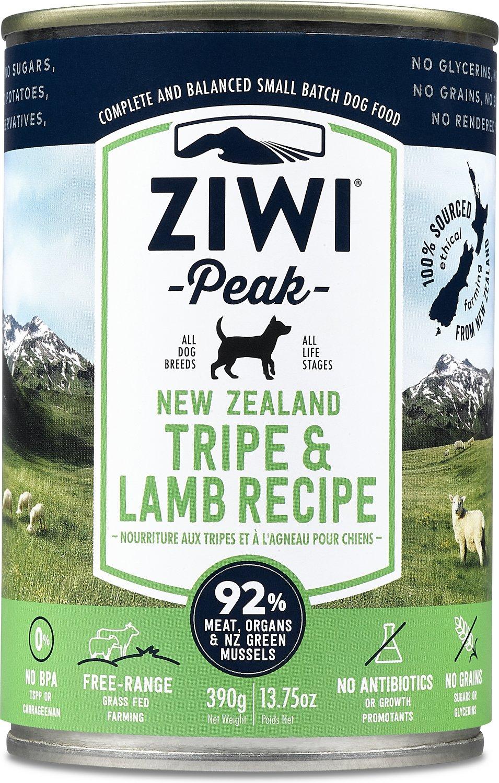 Ziwi Peak Dog Tripe & Lamb Canned Dog Food, 13.75-oz
